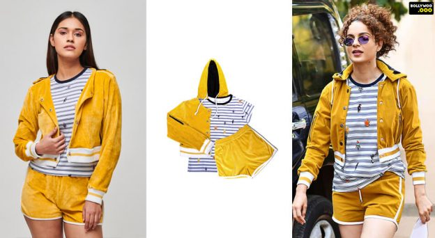 mustard yellow jackets shorts